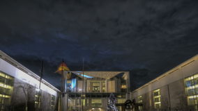 Chancellery. Timelapse View of the german chancellery stock footage