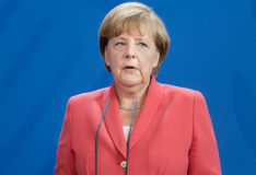 Chancellor of the Federal Republic of Germany Angela Merkel Stock Photography