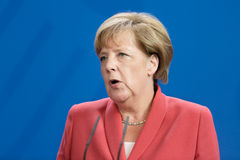 Chancellor of the Federal Republic of Germany Angela Merkel Royalty Free Stock Photos