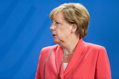 Chancellor of the Federal Republic of Germany Angela Merkel Royalty Free Stock Photo