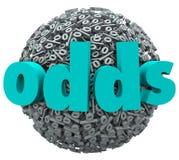 Chancen-Wort-Prozent-Zeichen-Glück-Möglichkeits-Wahrscheinlichkeits-Gewinn vektor abbildung