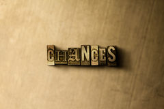 CHANCES - close-up of grungy vintage typeset word on metal backdrop. Royalty free stock - 3D rendered stock image. Can be used for online banner ads and direct vector illustration