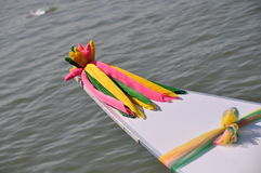 Chanceux décorez pour le bateau Photos stock