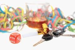 Chancing whiskey and car keys Stock Photo