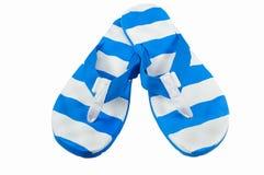 Chancleta azul blanca Imágenes de archivo libres de regalías