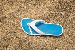 Chancleta en la playa Fotos de archivo