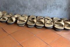 Chancletas de la paja Foto de archivo libre de regalías