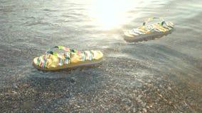 Chancletas que flotan en ondas metrajes