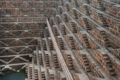 Chand Baori, één van diepste stepwells in India Royalty-vrije Stock Fotografie