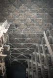 Chand Baori, één van diepste stepwells in India Stock Fotografie