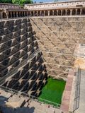 The Chand Baori in the city of Jaipur in India royalty free stock photo