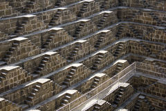 Chand Baori - deepest stepwell in world Royalty Free Stock Photography