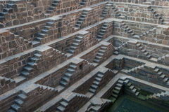 Chand Baori, one of the deepest stepwells in India Stock Photos