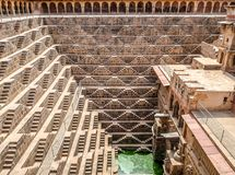 Chand Baori Stepwell, Jaipur, Rajasthan, India. Chand Baori, Rajasthan, deepest and largest stepwells in India royalty free stock photos