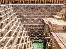 Chand Baori Stepwell, Джайпур, Раджастхан, Индия стоковые фотографии rf