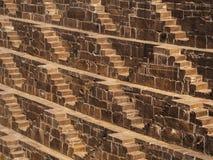 Chand Baori Stepwell famosa en Abhaneri, Rajasthán, la India Imagen de archivo