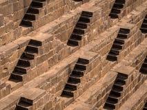 Chand Baori Stepwell famosa en Abhaneri, Rajasthán, la India fotos de archivo libres de regalías