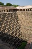 Chand Baori Stepwell nel villaggio di Abhaneri, Ragiastan, Jaipur, INDIA Fotografia Stock Libera da Diritti