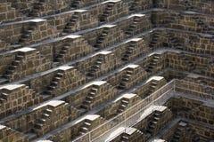 Chand Baori - stepwell più profondo in mondo Fotografia Stock Libera da Diritti
