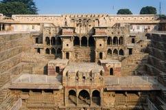 Chand Baori Stepwell, Rajasthán, la India Foto de archivo libre de regalías