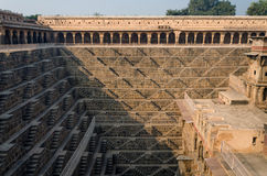 Chand Baori Stepwell, Rajasthan, India. Chand Baori Stepwell in the village of Abhaneri, Rajasthan, India Royalty Free Stock Images