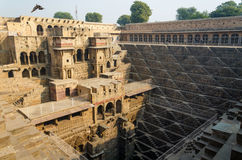 Chand Baori Stepwell, Rajasthan, India. Stock Photos
