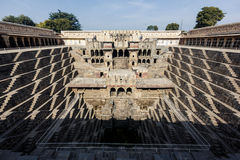 Chand Baori Stepwell in village of Abhaneri Royalty Free Stock Photography