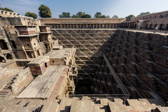 Chand Baori Stepwell in village of Abhaneri Royalty Free Stock Photo