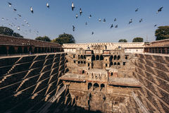 Chand Baori Stepwell in village of Abhaneri Stock Image