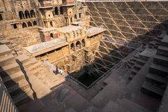 Chand Baori Stepwell in village of Abhaneri Royalty Free Stock Photos