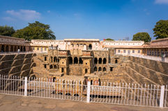Chand Baori Stepwell in village of Abhaneri Stock Images