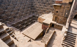 Chand Baori Stepwell in village of Abhaneri Stock Photos