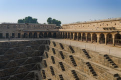 Chand Baori Stepwell in the village of Abhaneri, Jaipur. Rajasthan, India Royalty Free Stock Photography