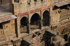 Chand Baori Stepwell in the village of Abhaneri Stock Photos