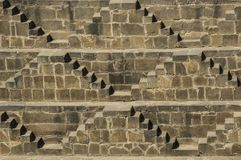 The Chand Baori stepwell in the village of Abhaneri, Rajasthan, stock image