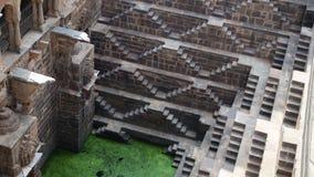 Chand Baori Stepwell w wiosce Abhaneri, Rajasthan, Jaipur, INDIA Zdjęcia Stock
