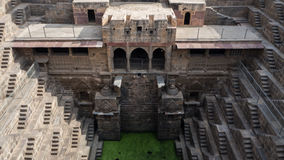 Chand Baori Stepwell w wiosce Abhaneri, Rajasthan, Jaipur, INDIA Obrazy Royalty Free