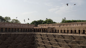 Chand Baori Stepwell w wiosce Abhaneri, Rajasthan, Jaipur, INDIA Obrazy Stock