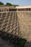 Chand Baori Stepwell w wiosce Abhaneri, Rajasthan, Jaipur, INDIA Zdjęcie Royalty Free