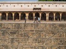 Chand Baori Stepwell w wiosce Abhaneri, Rajasthan, Jaipur, INDIA Obraz Stock
