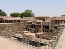 Chand Baori well, stepwell in Abhaneri Village near Jaipur, Rajasthan. Chand Baori was built by king Chanda of the Nikumbha