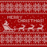 Chandail avec Santa et ses deers illustration libre de droits