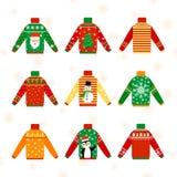 Chandail chaud mignon de Noël pour l'ensemble d'hiver illustration libre de droits