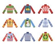 Chandail chaud mignon de Noël pour l'ensemble d'hiver illustration de vecteur
