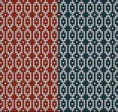 Chandail de tricotage blue3 rouge de modèle illustration stock
