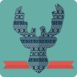 Chandail de tricotage de modèle de cerfs communs illustration libre de droits
