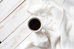 Chandail et café chauds Photo stock