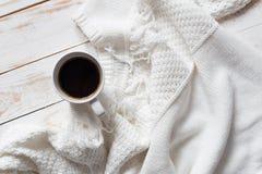 Chandail et café chauds Photos libres de droits