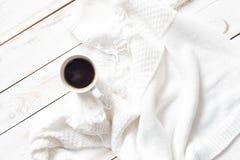 Chandail et café chauds Image stock