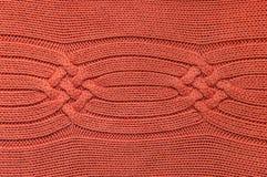 Chandail orange de laine Images libres de droits